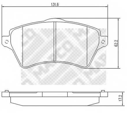 Колодки тормозные дисковые передний для LAND ROVER FREELANDER(LN,LN#) <b>MAPCO 6742</b> - изображение