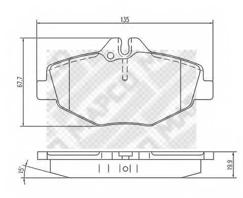 Колодки тормозные дисковые MAPCO 6745 - изображение