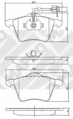 Колодки тормозные дисковые MAPCO 6771 - изображение