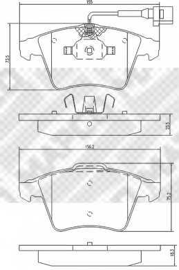 Колодки тормозные дисковые MAPCO 6772 - изображение