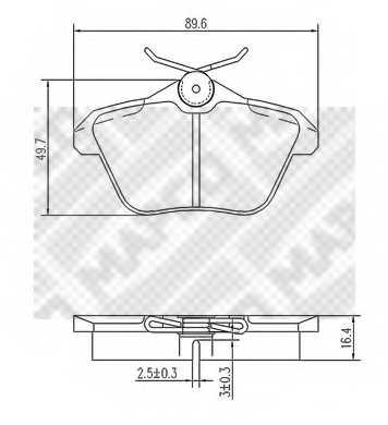 Колодки тормозные дисковые для LANCIA KAPPA(838,838A,838B) <b>MAPCO 6773</b> - изображение