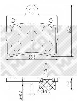 Колодки тормозные дисковые MAPCO 6780 - изображение