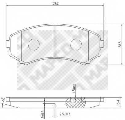 Колодки тормозные дисковые MAPCO 6785 - изображение