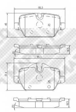Колодки тормозные дисковые MAPCO 6802 - изображение