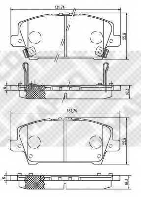 Колодки тормозные дисковые для HONDA CIVIC(FA,FD,FK,FN) <b>MAPCO 6843</b> - изображение