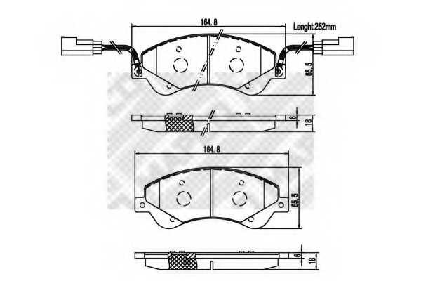 Колодки тормозные дисковые MAPCO 6855 - изображение