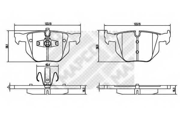 Колодки тормозные дисковые MAPCO 6900 - изображение