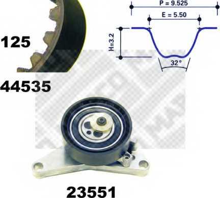 Комплект ремня ГРМ MAPCO 73535 - изображение