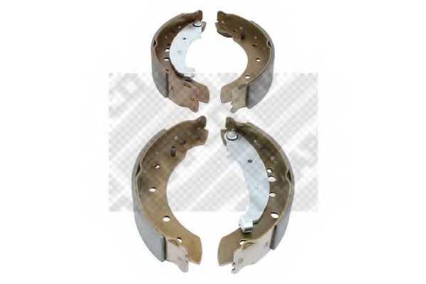 Комплект тормозных колодок задний для PEUGEOT 206(2A/C,2E/K,T3E) <b>MAPCO 8324</b> - изображение