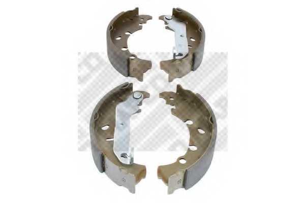 Комплект тормозных колодок задний для FORD FIESTA(JA#,JB#,JD#,JH#), FUSION(JU#), KA(RB#), PUMA(EC#), STREET KA(RL2) / MAZDA 121(JASM,JBSM), 2(DY) <b>MAPCO 8760</b> - изображение