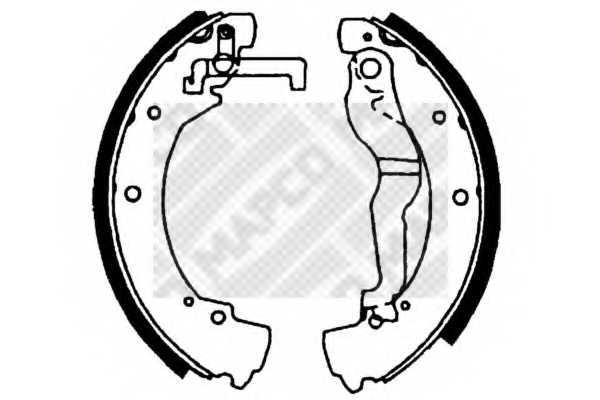 Комплект тормозных колодок задний для VW TRANSPORTER(70XA, 70XB, 70XC, 70XD, 7DB, 7DK, 7DW) <b>MAPCO 8831</b> - изображение