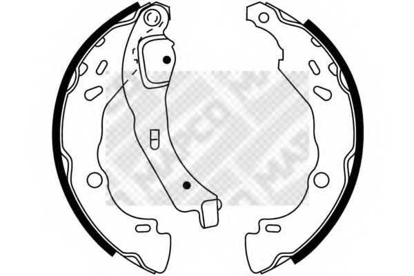 Комплект тормозных колодок MAPCO 8847 - изображение