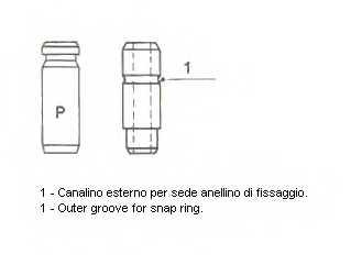 Направляющая втулка клапана METELLI 01-2143 - изображение