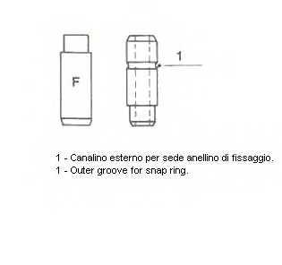 Направляющая втулка клапана METELLI 01-2518 - изображение