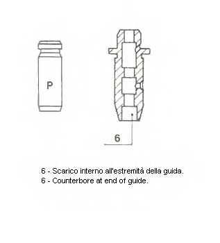 Направляющая втулка клапана METELLI 01-2546 - изображение 1