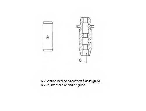 Направляющая втулка клапана METELLI 01-2572 - изображение