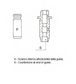 Направляющая втулка клапана METELLI 01-S2922 - изображение