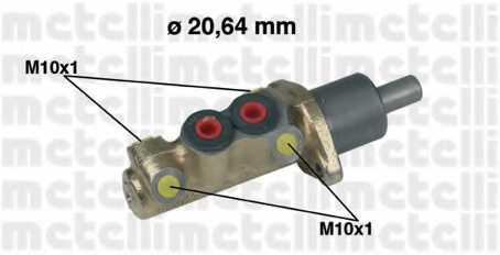 Главный тормозной цилиндр METELLI 05-0039 - изображение