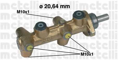 Главный тормозной цилиндр METELLI 05-0040 - изображение