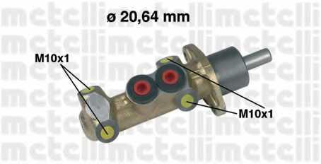 Главный тормозной цилиндр METELLI 05-0044 - изображение