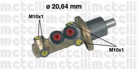 Главный тормозной цилиндр METELLI 05-0059 - изображение