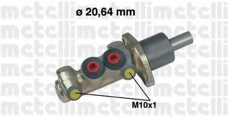 Главный тормозной цилиндр METELLI 05-0125 - изображение