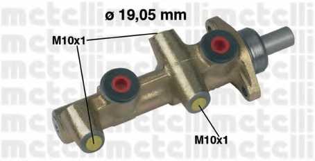 Главный тормозной цилиндр METELLI 05-0138 - изображение