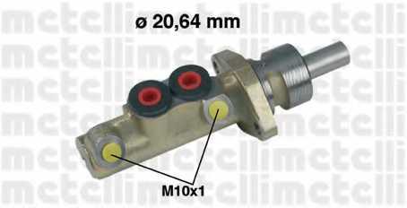 Главный тормозной цилиндр METELLI 05-0156 - изображение