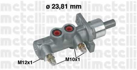 Главный тормозной цилиндр METELLI 05-0165 - изображение