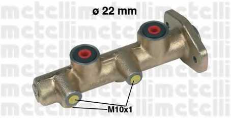 Главный тормозной цилиндр METELLI 05-0170 - изображение