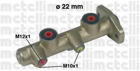Главный тормозной цилиндр METELLI 05-0173 - изображение