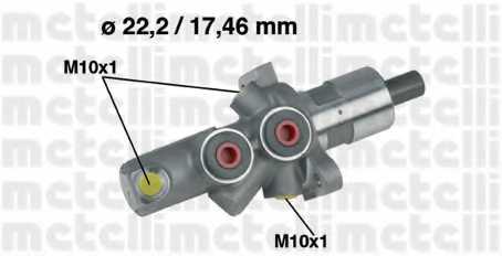 Главный тормозной цилиндр METELLI 05-0175 - изображение