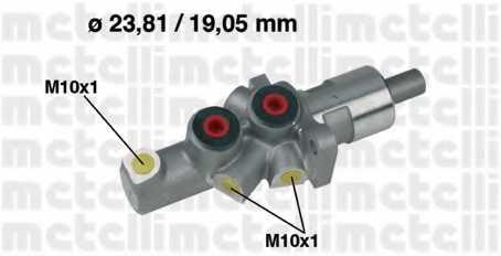 Главный тормозной цилиндр METELLI 05-0177 - изображение