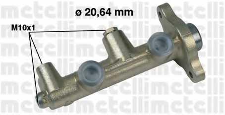 Главный тормозной цилиндр METELLI 05-0179 - изображение
