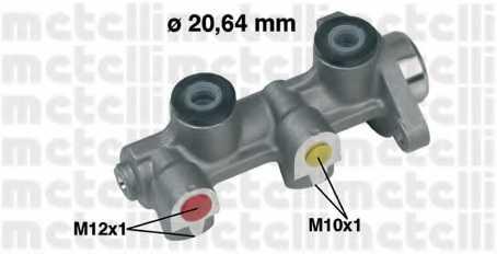 Главный тормозной цилиндр METELLI 05-0190 - изображение