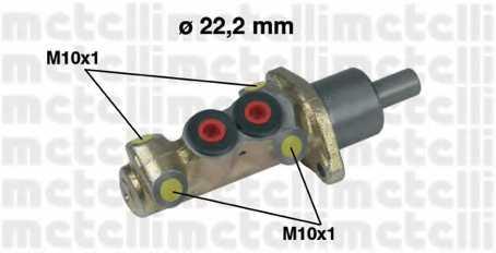 Главный тормозной цилиндр METELLI 05-0196 - изображение