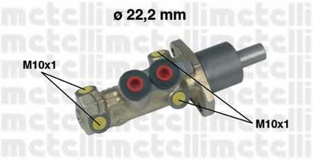 Главный тормозной цилиндр METELLI 05-0198 - изображение