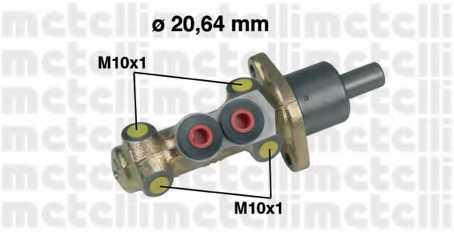 Главный тормозной цилиндр METELLI 05-0207 - изображение