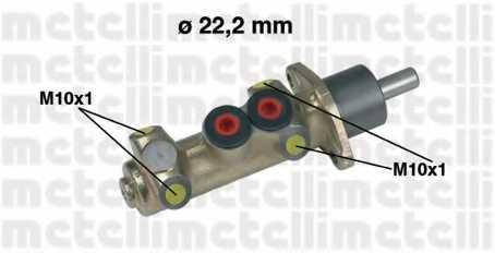 Главный тормозной цилиндр METELLI 05-0208 - изображение