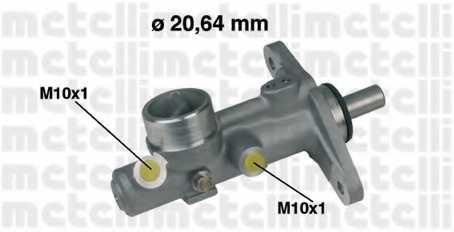 Главный тормозной цилиндр METELLI 05-0210 - изображение