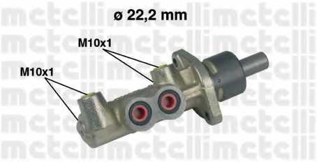 Главный тормозной цилиндр METELLI 05-0220 - изображение