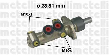 Главный тормозной цилиндр METELLI 05-0222 - изображение