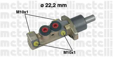 Главный тормозной цилиндр METELLI 05-0228 - изображение