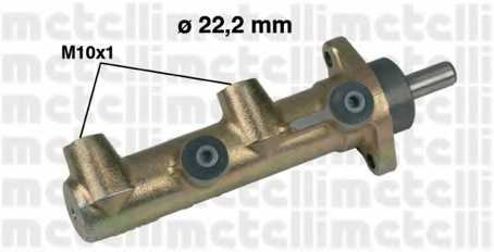 Главный тормозной цилиндр METELLI 05-0238 - изображение