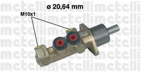Главный тормозной цилиндр METELLI 05-0242 - изображение
