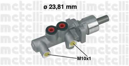 Главный тормозной цилиндр METELLI 05-0255 - изображение