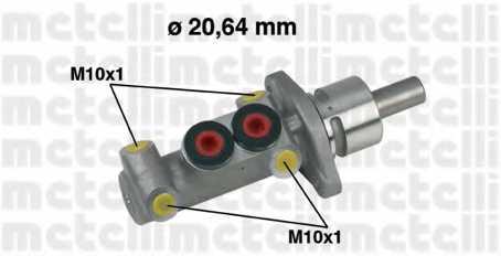 Главный тормозной цилиндр METELLI 05-0277 - изображение