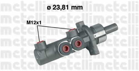 Главный тормозной цилиндр METELLI 05-0280 - изображение
