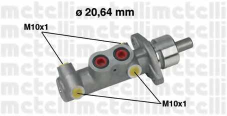 Главный тормозной цилиндр METELLI 05-0289 - изображение