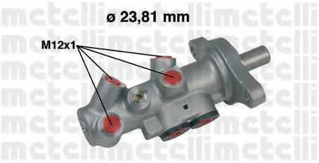 Главный тормозной цилиндр METELLI 05-0295 - изображение